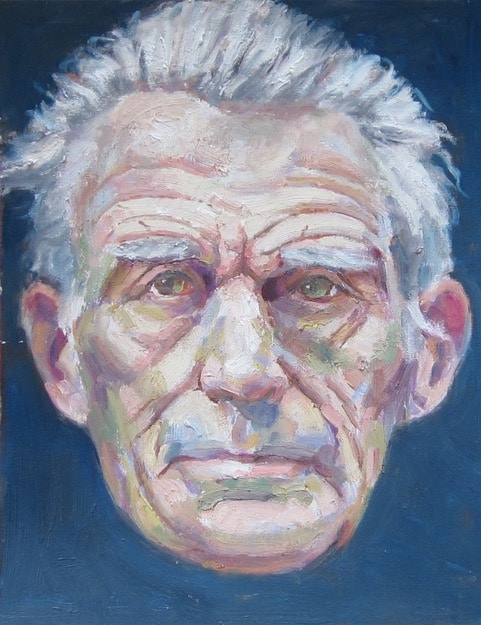 portrait by Gary Michael of Samuel Beckett